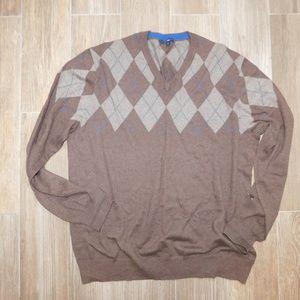 Gap argyle sweater super soft xl